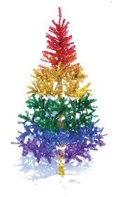 rainbow metallic tree rainbow