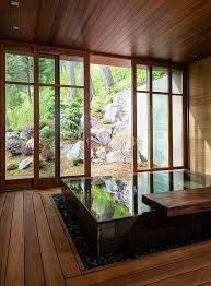 Japanese Design Inspired Pool House And Spa Showcases Stunning