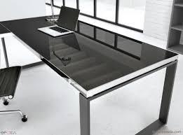 bureau en verre noir bureau direction collection archimède epoxia mobilier