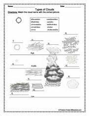 types of clouds science worksheets earth space and types of