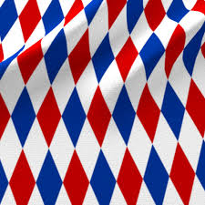 Blue White And Red Flags Red Blue And White Harlequin Fabric Weavingmajor Spoonflower