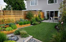 contemporary raised garden beds tucked round edges raised bed