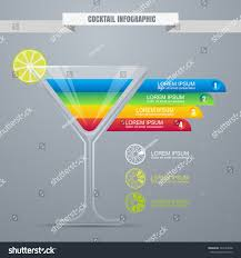 cocktail concept infographic design template cocktail stock vector
