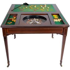 the edwardian king u0027s roulette card and games table mahogany c