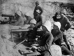Ottoman Germany Turkish Troops With Mg08 Machine Guns Historical Firearms