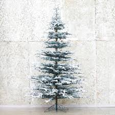 snowy faux noble fir firs holidays and fir tree