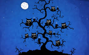 halloween background wallpaper cartoon owl desktop wallpaper wallpapersafari