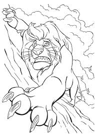 mufasa holding tight rock lion king coloring