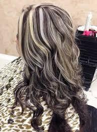 platinum blonde and dark brown highlights short dark hairstyles with blonde highlights fashion inspirations