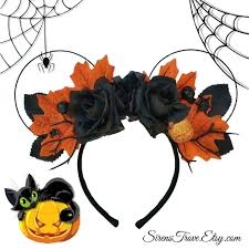 halloween inspired minnie mouse floral disney ears here u0027s your