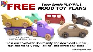Plans For Wood Toy Trucks by Wood Toy Plans 5 Free Patterns Youtube