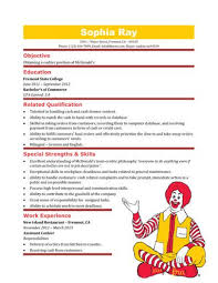 Fast Food Resume Sample by Fast Food Worker Resume Formats Csat Co