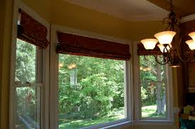 Blinds For Bow Windows Decorating Roman Shades For Bay Window Decor Mellanie Design