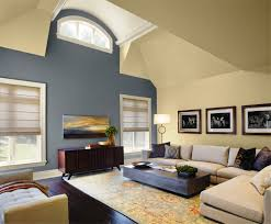 Warm Blue Color Living Room Classy Warm Living Room Paint Color With Blue Wall