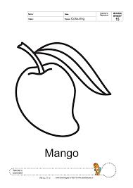 mango coloring page getcoloringpages com