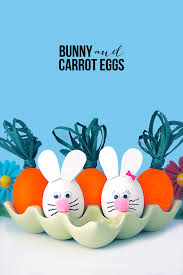 Easter Decorations For Eggs by Bunny And Carrot Egg Decorating Live Laugh Rowe