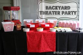 Backyard Outdoor Theater by Outdoor Movie Party