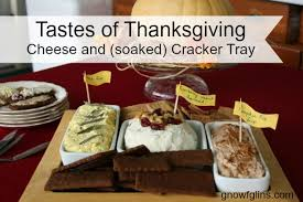 a delicious thanksgiving recipe cheese and soaked crackers tray