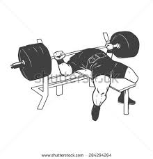 Powerlifting Bench Workout Powerlifting Bench Press Figure On Isolated Stock Vector 284294264