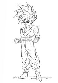dragon ball gohan coloring free printable coloring pages
