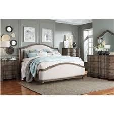 King Upholstered Bed Frame Standard Furniture Parliament King Upholstered Camelback Wing Bed
