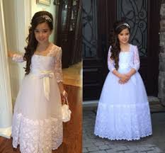 discount white first communion dresses for juniors 2017 white