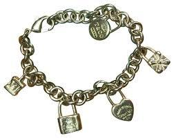 bracelet charm tiffany images Tiffany co silver icons lock charm bracelet tradesy jpg