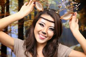 deer costume make up deer makeup tutorial halloween 2013