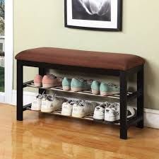 Walmart Entryway Furniture Roundhill Furniture Wood Shoe Bench Walmart Com