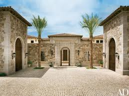 home courtyard a palatial italian style home in las vegas blends modern elements