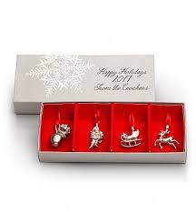 nicholas pewter ornament set gift