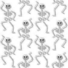 repeating background halloween repeating pattern with skeleton on white background u2014 stock vector