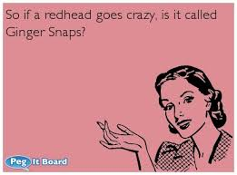 Ginger Snap Meme - so if a redhead goes crazy is it called ginger snaps red magic