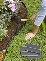 Garden Barrier Ideas Yard Edging Ideas Home Design Inexpensive Front Border Borders Mamak
