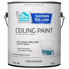 Sherwin Williams by Shop Hgtv Home By Sherwin Williams Ceiling White Flat Latex