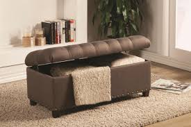 brown fabric storage bench steal a sofa furniture outlet los