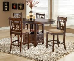 randolph cherry counter height dining room set by bernards home