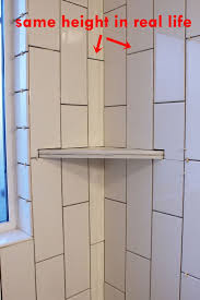 How To Lay Tile In Bathroom by Best 25 Shower Corner Shelf Ideas On Pinterest Shower Shower
