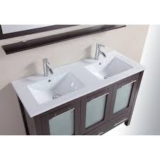 48 inch bathroom solid wood double vanity cabinet with top in