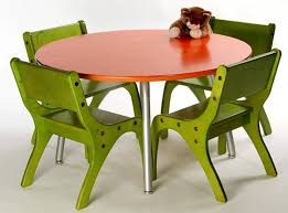 ikea childrens table and chairs kids room round red metal kids table 4 seates fun green metal kids
