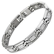 ladies magnetic bracelet images Ladies magnetic titanium bracelet silver carbon fibre willis judd jpeg