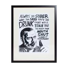 ernest hemingway print by jeff sheffield limited edition of 75