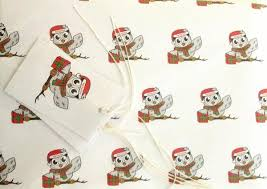 owl christmas wrapping paper momentum christmas owl charity wrapping paper and tags