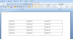 vba excel add table and fill data to the word document