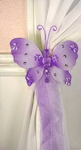 Purple Butterfly Curtains Butterfly Curtain Tiebacks I Loooove These U0026 So Easy To Make