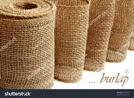 Used Home Decor Burlap Ribbon Garland Used Home Decor Stock Photo 94626988