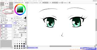 how to color eyes paint tool sai step by step drawing sheets
