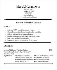 maintenance technician resume sle maintenance technician resume 9 exles in word pdf