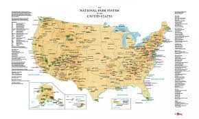 us map states national parks united states national park system map by magic murals