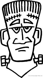 frankenstein color halloween color coloring pages